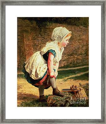 Wait For Me Framed Print by Sophie Anderson