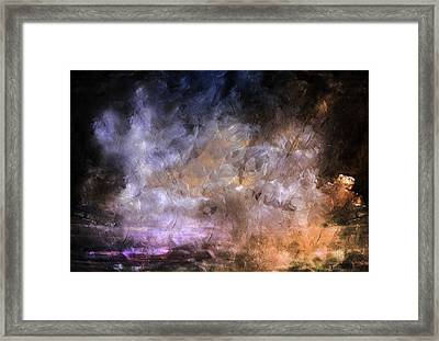 Wait For The Storm To Pass Abstract Framed Print by Georgiana Romanovna