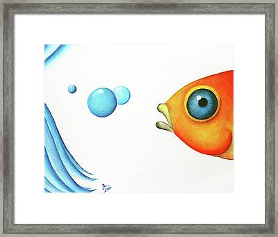 Wait Up  Framed Print by Oiyee At Oystudio