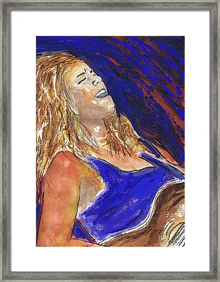 Waited For June A Portrait Of Megan Burtt Framed Print by Charles Snyder