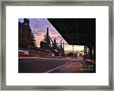 Framed Print featuring the photograph Waitin' On The Bus by DJ Florek
