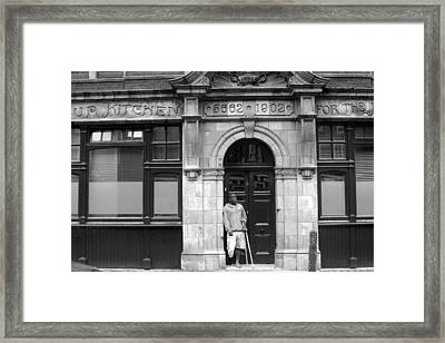 Waiting And Waiting Framed Print by Jez C Self
