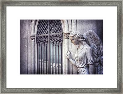 Waiting Angel In Prazeres Lisbon Framed Print