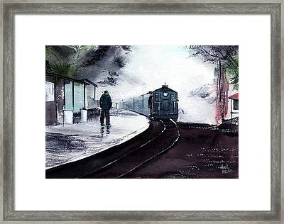 Framed Print featuring the painting Waiting by Anil Nene