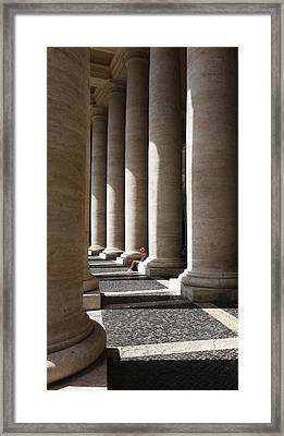 Framed Print featuring the digital art Waiting At St Peter's by Julian Perry