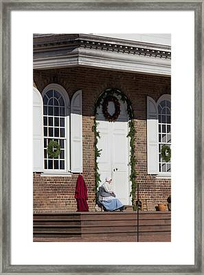 Waiting At The Courthouse Framed Print
