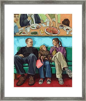 Waiting At The Diner Framed Print by Linda Apple