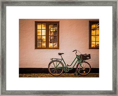 Waiting At The Light Framed Print by Odd Jeppesen