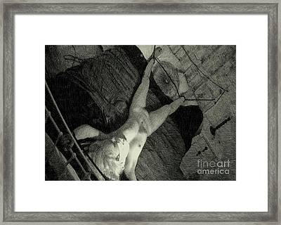 Waiting By Mb Framed Print