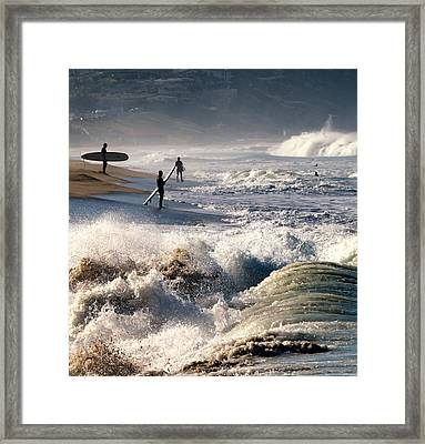 Waiting By Mike-hope Framed Print
