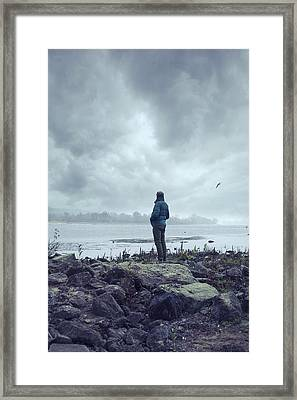 Waiting By The Shore Framed Print