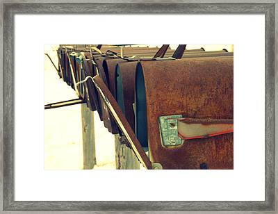 Waiting Framed Print by Carla Froshaug