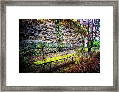 Framed Print featuring the photograph Waiting by Debra and Dave Vanderlaan