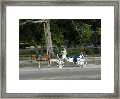 Waiting For A Fare Framed Print by Jack Herrington