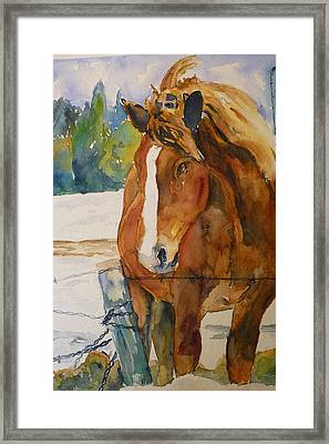 Framed Print featuring the painting Waiting For A Friend by P Maure Bausch