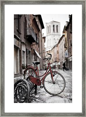 Waiting For A Ride Framed Print by Andre Goncalves