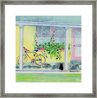 Waiting For A Ride Framed Print by Melody Allen