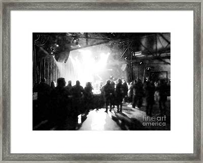 Framed Print featuring the photograph Waiting For A Show by Utopia Concepts