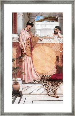 Waiting For An Answer Framed Print by John William Godward