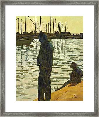 Waiting For Breakfast Framed Print by Tate Hamilton