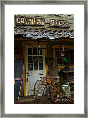 Waiting For Business Framed Print