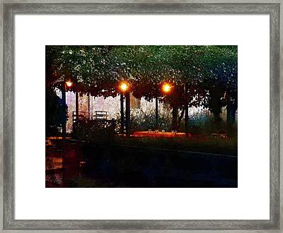 Waiting For Customers At Bar Sport Villastrada  Framed Print