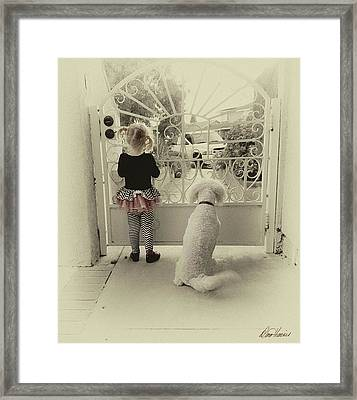 Waiting For Dad Framed Print
