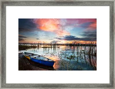 Waiting For Dawn Framed Print by Debra and Dave Vanderlaan