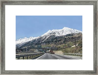 Waiting For Entering Tunnel Alps Framed Print by Patricia Hofmeester