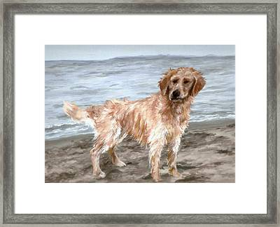 Waiting For Fetch Framed Print