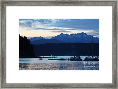 Waiting For Fireworks At Alderbrook Framed Print by Terri Thompson