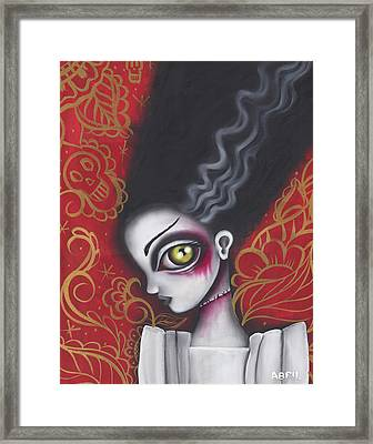 Waiting For  Frankenstein  Framed Print by Abril Andrade Griffith