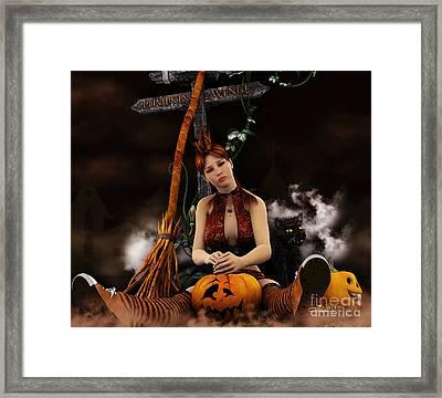 Waiting For Halloween Framed Print by Jutta Maria Pusl
