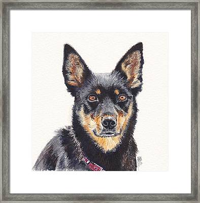 Waiting For Instructions Framed Print by Leonie Bell
