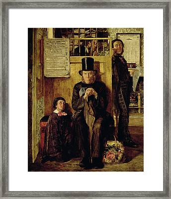 Waiting For Legal Advice Framed Print by James Campbell