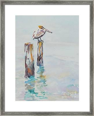 Framed Print featuring the painting Waiting For Lunch by Mary Haley-Rocks
