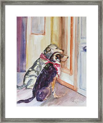 Waiting For Mary Framed Print by Nancy Brennand