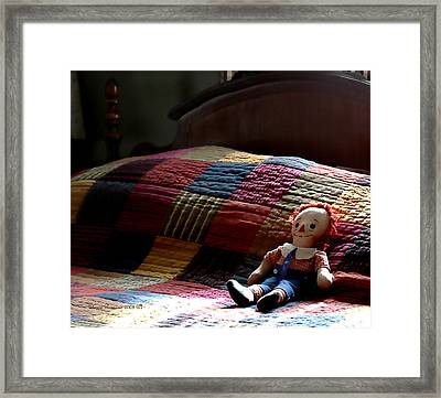 Framed Print featuring the photograph Waiting For My Boy by Denise Romano