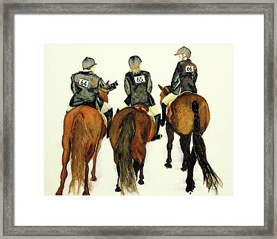 Waiting For Our Class Framed Print by Cheryl Dodd