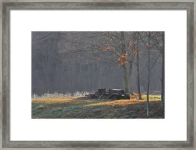 Waiting For Parts Framed Print by Gerald Hiam