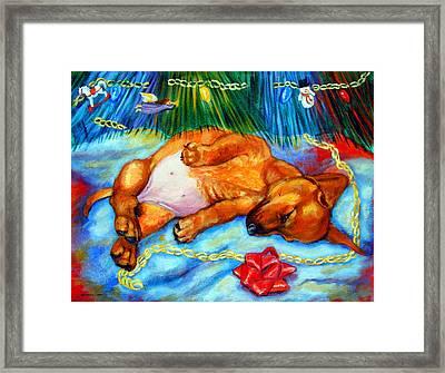 Waiting For Santa  - Dachshund Framed Print by Lyn Cook