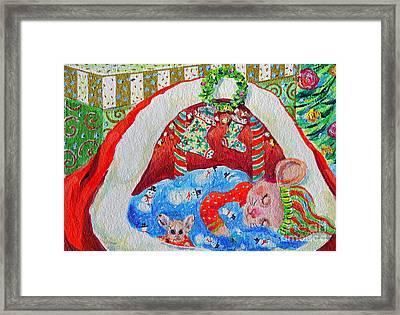 Waiting For Santa Framed Print