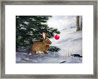Waiting For Santa Framed Print by Sharon Steinhaus