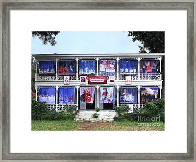 Waiting For Santa With Bluffton Framed Print