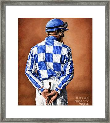 Waiting For Secretariat Framed Print by Thomas Allen Pauly