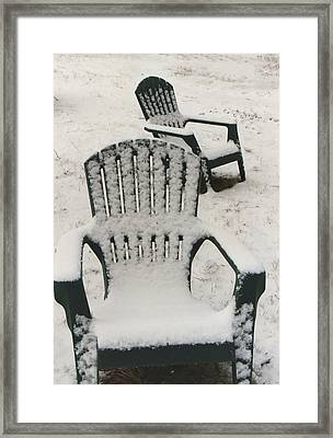 Waiting For Spring Framed Print by Diana Davenport