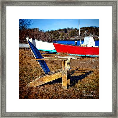 Waiting For Spring In Maine Framed Print