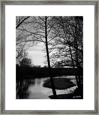 Waiting For Summer Framed Print by Ed Smith
