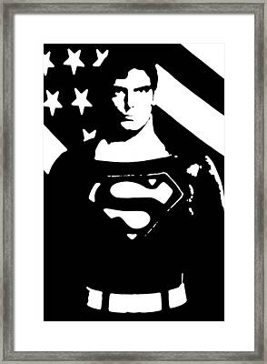 Framed Print featuring the digital art Waiting For Superman by Saad Hasnain