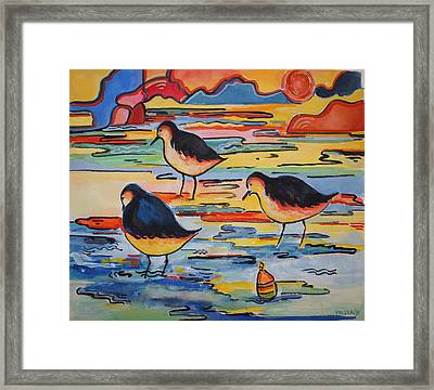 Waiting For Supper Framed Print by Sue Prideaux